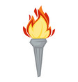 torch greek symbol olympic games attribute fire or vector image vector image