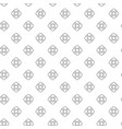 unique digital flowers seamless pattern with vector image vector image