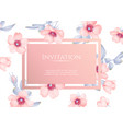 Wedding invitation with wild rose flowers