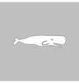 whale computer symbol vector image