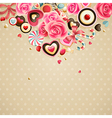 valentines card vector image