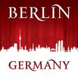 Berlin Germany city skyline silhouette vector image