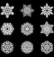 set of winter snowflakes for christmas white vector image