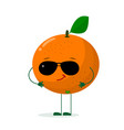 a cute orange character in the style of a cartoon vector image vector image