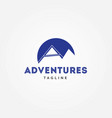 adventures letter a logo vector image vector image
