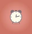 alarm flat design icon retro style vector image vector image