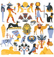 ancient egyptian religion elements set vector image vector image