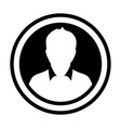 avatar icon male person symbol circle user vector image vector image