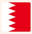bahrain square flag button social media vector image