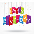 birthday celebration background on label vector image vector image