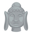 buddha head statue indian culture religion and vector image