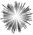 burst rays vector image