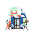 cafe concept flat style design vector image