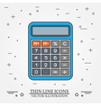 Calculator thin line design vector image vector image