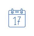 calendar date line icon concept calendar date vector image vector image