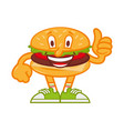 cartoon burger vector image vector image