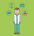 cartoon medical doctor icon vector image