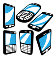 cell phoneset vector image vector image