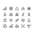 chemistry line icons laboratory equipment vector image