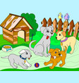 Childrens color book cartoon family on nature mom