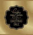 christmas big sale poster vector image