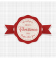 circle merry christmas festive badge with text vector image