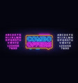 combo offers neon text design template big vector image
