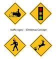 creative warning traffic signs vector image vector image