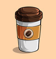cup coffee isolated on colored background vector image