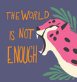 cute exotic wild big cat pink cheetah roaring vector image vector image