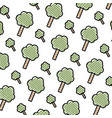 doodle nature tree leaves with stalk background vector image