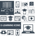 E-learning Icon Black Set vector image vector image