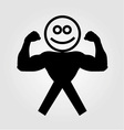 Figure with muscles showing muscle strength vector image vector image