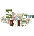 find your best student credit cards text vector image vector image