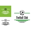 Football or soccer club symbol vector image vector image