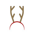 funny reindeer antler headband hair hoop vector image vector image