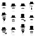 Gentleman portrait icon set vector image vector image
