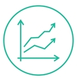 Growth graph line icon vector image vector image
