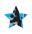 Grunge Black And Blue Star vector image