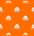 house sinking in a water pattern seamless vector image vector image