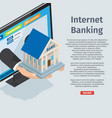 internet banking information page vector image vector image