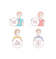 internet chat creativity and cash icons crane vector image