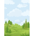 Landscape summer forest vector | Price: 3 Credits (USD $3)