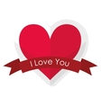 Love and hearts card vector image