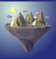 low poly island landscape tree abstract nature mou vector image vector image