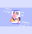 music phone app stream social people concept vector image vector image