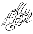 My angel lettering vector image