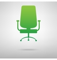 Office chair green icon vector image