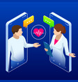 online medical service isometric concept vector image
