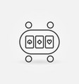 online poker table linear concept icon or vector image vector image